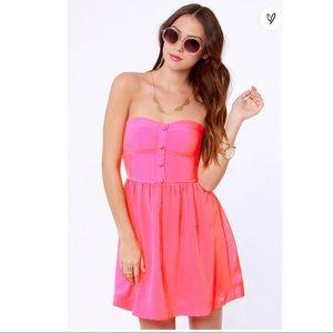 Strapless bustier sweetheart neckline Roxy dress